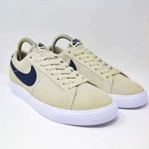 premium selection 3733e 3ec63 Nike SB Blazer Vapor Low Skate Shoes White Blue 8 NWT